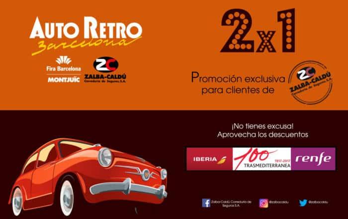 Oferta 2x1 AutoRetro Clientes Zalba-Caldú