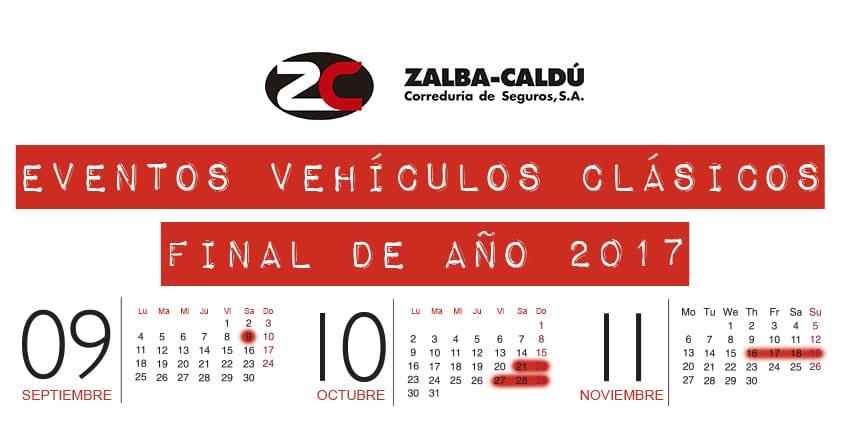 EVENTOS VEHICULOS CLASICOS 2017